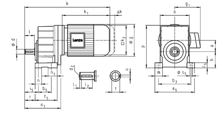 Lenze Gearbox Dimensions